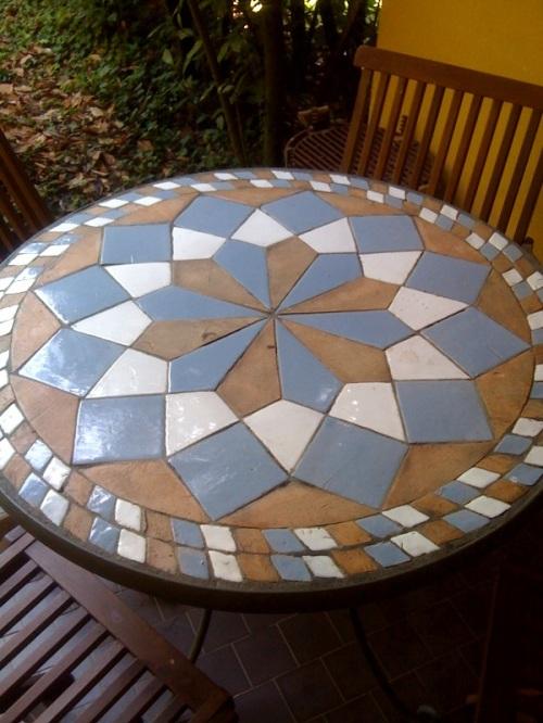 Realizzare un tavolo da esterno in ceramica a r g i l l for Tavolo legno esterno